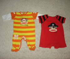 Boys Baby Infant Paul Frank Small Paul Onesie Lot of 2 Pirate Scars Size 3 Month