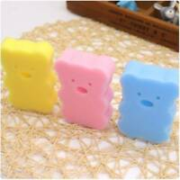 4pcs Bath Brushes Accessories Baby Shower Body Wash Brushes Cartoon Sponge Bath