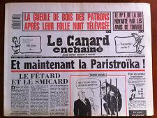 Le Canard Enchaîné 5/7/1989; Le n°1 de la BD noyauté par les amis de Touvier