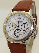 Stainless Steel and 18K Gold Jaeger le Coultre Quartz Chronograph 115.5.31 33mm