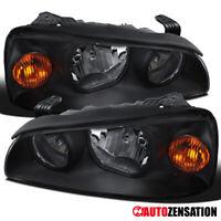 For 2004-2006 Hyundai Elantra Pair Black Headlights Head Lamps Left+Right