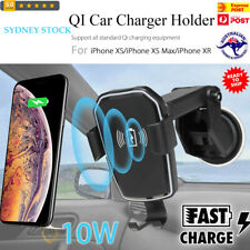 10W Qi Wireless Fast Charge Gravity Auto Lock Car Holder for Mobile Phone