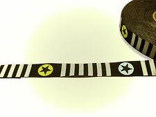 Webband Zierband Stars'n Stripes von Blaubeerstern 15 mm Sterne Streifen