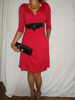 WOMAN LADIES SMART PARTY EVENING JERSEY STYLE SIZE 8/10 12/14 16/18 20/22 24/26!