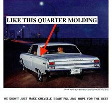 NOS CHEVROLET 1964 MALIBU SS 2-DOOR REAR QUARTER MOLDING LH  7