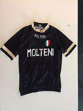 Molteni Eddy Merckx Nero Retro Manica Corta Jersey grandi