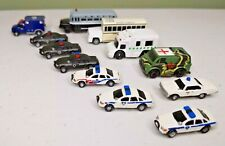 Set of 12 Police & Emergency Vehicles Cars & Buses N Scale Model Trains Diorama