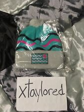 Pink Dolphin Flag Beanie In Aqua Fall 2013 One Size