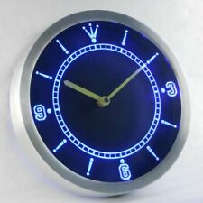 Wall Clock Led Neon Custom Sign Light Up Restaurant Room Shop Bar Pub Decor New