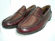 FLORSHEIM MENS SHOES BERKLEY PENNY LOAFERS BURGUNDY, 12D, LEATHER UPPERS & SOLES