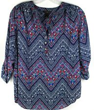 WOMENS INVESTMENTS II TOP BLOUSE TUNIC BLUE PLUS SIZE 1X 16/18