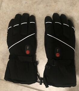 Heated Gloves for Men Women,Rechargeable Heated Skiing,Snowboarding Gloves XL