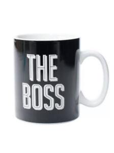 THE BOSS Extra Large Mug Coffee Tea GIANT Big Ceramic Jumbo Cup Dad Mens Gift