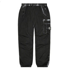 SUPREME STONE ISLAND PAINTED CAMO NYLON CARGO PANT BLACK LARGE ORDER CONFIRMED