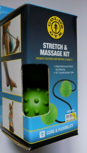 """Gold's Gym Stretch & Massage Kit with 20"""" Durable Bungee Cable- Free Delivery"""