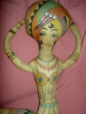 Extremely Rare, Art Deco cloth, Valines perfume advertising, Boudoir bed doll