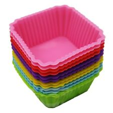 Square Silicone Jelly Pudding Candy Mould Muffin Cup Cake Baking Mold Random
