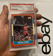 Michael Jordan ROOKIE PSA Authentic Altered Fleer 1986 Last Dance #57 Man Cave