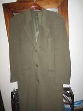 Vintage Hugo Boss 100% Cashmere Green Overcoat US 38 EU 48 EUC NICE !