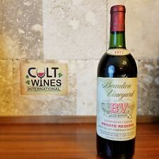 RP 93 pts 1977 BV Georges de Latour Private Reserve Napa Cabernet Sauvignon wine