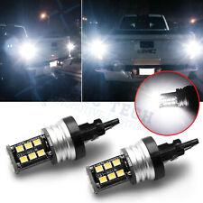 2x White 6000K LED Backup Reverse Light Bulbs For GMC Sierra 1500 2500 3500 HD