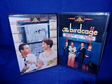 Lot of 2 New, Factory Sealed, Dvds;The Birdcage,The Apartment -Jack Lemmon,Fr Sh