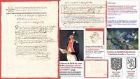 Requête 1788 Capitaine DU ROUSSEAU DE CHABROT (1731-1814) Garde du Corps du Roi