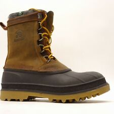 Kamik Mens William Leather Waterproof Athletic Casual Duck Boots Size 10