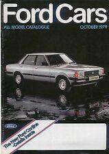FORD voitures 1979 PTOM original uk brochure Fiesta Escort Cortina Capri Granada