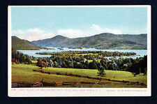 1904 Green Island & Narrows from Bolton Hill Lake George New York postcard