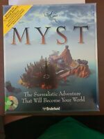 Myst PC CD ROM Windows 3.1 or 95 Game Broderbund Pre Owned w/ Strategy Guide