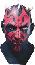 Darth Maul Costume Mask Authentic Star Wars Clone Sith Full Latex - Fast Ship -
