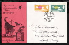 HONG KONG 1965 TELECOMMUNICATION STAMPS SET ILLUSTRATED FIRST DAY COVER (L256)