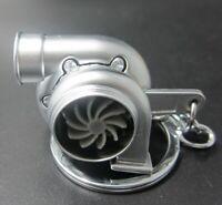 Silver Metal Keychain Ring Twin Turbo Blower Shape Keychains Key Holder