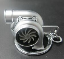 Silver Metal Keychain Ring Twin Turbo Blower Shape Keychains Key Holder