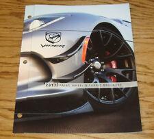 Original 2017 Dodge Viper Paint Wheel & Fabric Sales Brochure 17 SRT