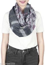 Écharpes et châles gris en polyester pour femme