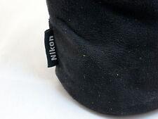 """Nikon CL-0915 Genuine Black Soft Fabrick Lens Case Pouch Ext: 6""""h x 3 1/4""""w"""