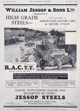 1928 AD(H13)~WLM. JESSOP & SONS LTD. HIGH GRADE STEELS FOR MOTOR CARS. SHEFFIELD