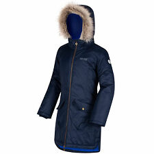 Regatta Girls Hollybank Parka Our 48hr TRACKED Delivery 9-10 Y Navy
