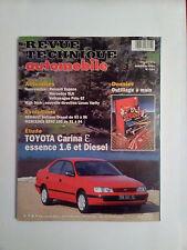 RTA TOYOTA CARINA essence 1.6 et diesel revue technique automobile
