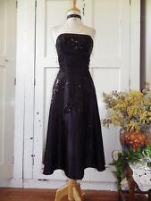 BEAUTIFUL MONSOON SILK & BEADED STRAPLESS MONROE DRESS-BLACK FORMAL OCCASION 10