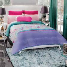 Pink and blue feathers Comforter Luxury Bedding Blanket with sherpa Full/Jumbo