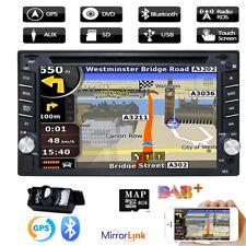 "Double Din 6.2"" Sat Nav Car DVD Player Stereo Radio Bluetooth USB DVB-TV"