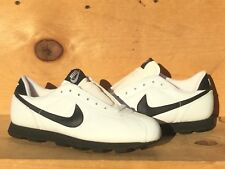 Vintage 1992 Nike Big Leather Cortez Golf Cleats White/Black Size 8 Read Ad