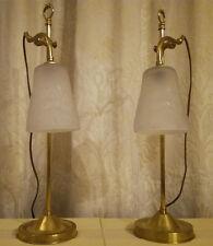 PAIRE DE LAMPE ART DECO / ART NOUVEAU. TULIPES SIGNEES MULLER FRERES [1919-1933]