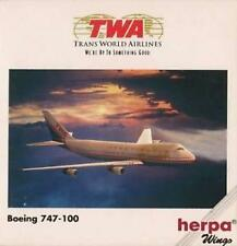 NEW HERPA WINGS 502504 TWA TRANS WORLD AIRLINES BOEING 747-200 MODEL 1:500 SCALE