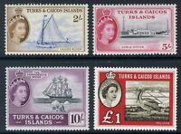 Turks Caicos 1957-60 QE 2s-£1 Pictorials SG 248-250,253 CV £100 UMM MNH  U938