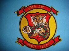 "KOREA WAR  PATCH USMC MARINES ATTACK SQUADRON VMA -212 ""DEVIL CATS """