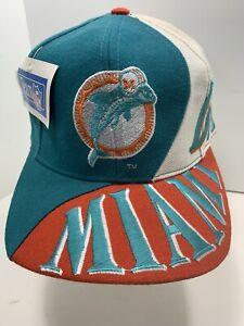 VTG Miami Dolphins Big Logo Snapback Hat Cap Team NFL Drew Pearsons
